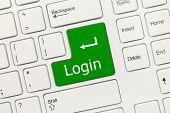 White Conceptual Keyboard - Login (green Key)
