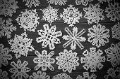 Christmas Decoration With Paper Snowflake