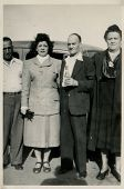 CANADA - CIRCA 1940s: Vintage photo shows  portrait of an elderly couple and their friends.