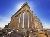 foto of akropolis  - Parthenon temple on the Acropolis of Athens - JPG