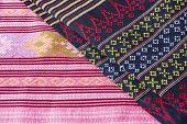Thai Fabric, Fabric Texture Background