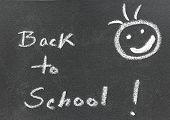 Back To School Written In A Black Board