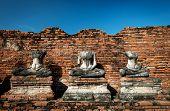 The Ancient Buddha. Wat Chaiwatthanaram At Morning Moment In The Ayutthaya