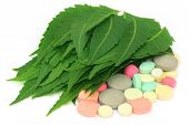 Pills Made From Medicinal Neem Leaves
