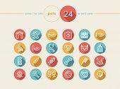 picture of petting  - Pet and Vet colorful flat icons set for web and mobile app - JPG