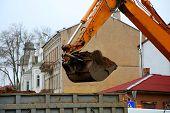 The digging excavator bucket