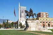 Skanderbeg Monument - The National Hero Of Albania, Tirana