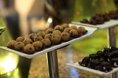 Brown Ball Cakes Canape