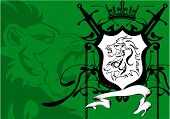 heraldic lion head crest background3
