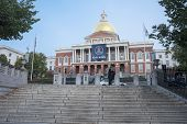 The Massachusetts State House In Boston, Ma.