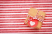 Little Gift Box With Heart Shaped Tag