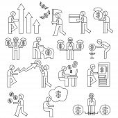 financial people icons