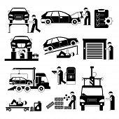 auto service people set