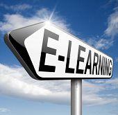 e-learning online course internet education learning in open school or university virtual elearning