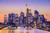 Frankfurt am Main, Germany City Skyline at dusk.
