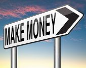 making money or earning fast and easy cash make a business profit growth