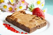 Chocolate Cake With Strawberrry