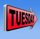 foto of tuesday  - tuesday sign event calendar or meeting schedule  - JPG
