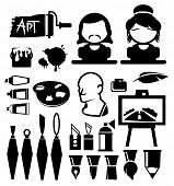 Artist vector icons