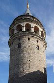 Galata Tower  Originally Built As A Fire Watchtower  In Istanbul, Turkey.