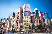 TOKYO - OCTOBER 28, 2014: Ginza shopping district on Oktober 28, 2014 in Tokyo, Japan. Ginza extends for 2.4 km and is one of the world's best known shopping districts.