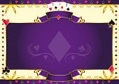 Poker game ace of diamonds horizontal background. A background for your Poker Tournament with a diamond shape. Write your message on the empty frame. Dimensions are ideal for a screen