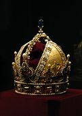 stock photo of rudolf  - Golden crown of the Austro - JPG
