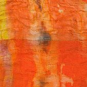 Texture Of Painted Orange Silk Batik