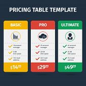 stock photo of tariff  - Subscription pricing plan template - JPG