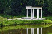 image of gazebo  - The romantic gazebo in the old Park - JPG
