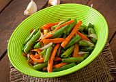 foto of sauteed  - Sauteed green beans with carrots - JPG