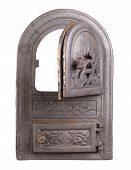 stock photo of furnace  - Cast iron door for furnaces - JPG