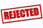 stock photo of reject  - Aged rubber stamp text saying the text Rejected - JPG