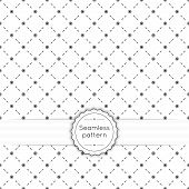 image of diagonal lines  - Vector seamless pattern with vintage old banner and ribbon - JPG