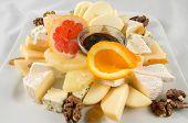 foto of pecan nut  - Fruit salad with cheese - JPG