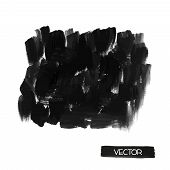 ������, ������: Black brush smears Abstract stylish watercolor background