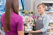 pic of flower shop  - This is a brilliant bouquet - JPG