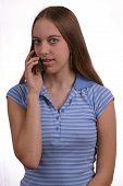 Teen Girl Talking On Phone