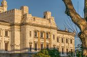 picture of neoclassical  - Low angle view of top side of neoclassical style landmark legislative palace of Uruguay located in the capital Montevideo - JPG