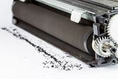image of cartridge  - laser printer cartridge on a white background  - JPG