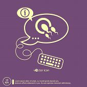image of human egg  - Sperms and egg icon and keyboard design elements - JPG