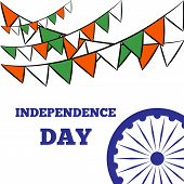 foto of indian independence day  - Indian Independence Day background with Ashoka wheel - JPG
