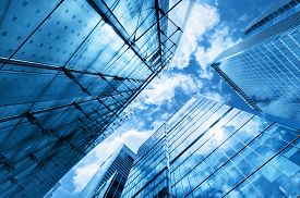 picture of high-rise  - Modern business skyscrapers - JPG