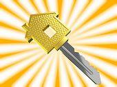 gold dream house key