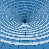 abstarct blue circle 3d background