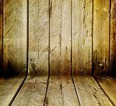 Постер, плакат: Деревянный интерьер гранж
