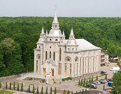 stock photo of vinnitsa  - Baptist church near the forest in Vinnitsa city - JPG