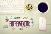Entrepreneur Concept With Workstation poster