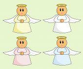 Cute Cartoon Angels poster