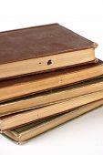 Pilha de livros antigos (Vertical)